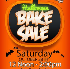 Halloween Bake Sale and Pumpkin Carving 10/28